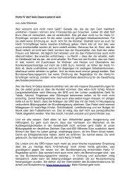 Hartz IV darf kein Dauerzustand sein von Julia Klöckner Wer ...