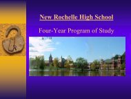 Introduction to New Rochelle High School Four-year Program of ...