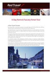 6-Day Rome & Tuscany Ferrari Tour - Red Travel