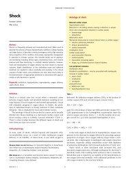 Aetiology of shock - Africa Health