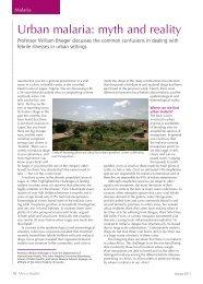 Urban malaria: myth and reality - Africa Health