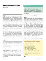 Headache and facial pain - Africa Health