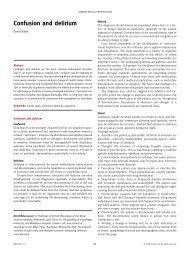 Confusion and delirium - Africa Health