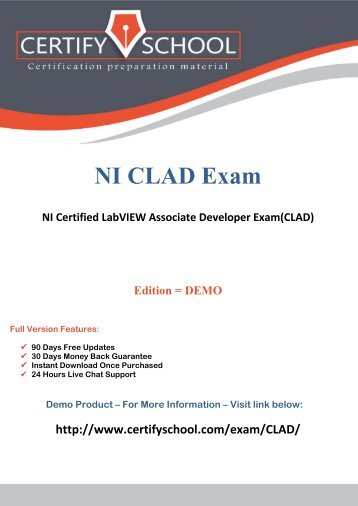 CLAD Exam Objectives - National Instruments
