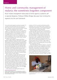 Home and community management of malaria: the ... - Africa Health