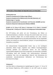 HPV-Impfung: Notwendigkeit der Begleitforschung und ... - Zervita