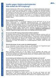 INFORMATIONSBLATT - Zervita