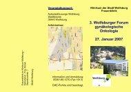 3. Wolfsburger Forum gynäkologische Onkologie 27. Januar 2007 ...