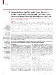 Human papillomavirus DNA testing for the detection of ... - Zervita