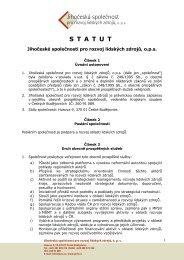 Statut JSRLZ a Rady RLZ - Jihočeská společnost pro rozvoj lidských ...
