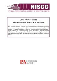Good Practice for Process Control and Scada Security - SCADAhacker
