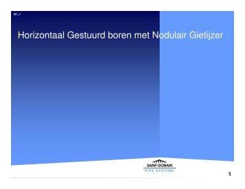 Horizontaal Gestuurd boren met Nodulair Gietijzer - Saint Gobain ...