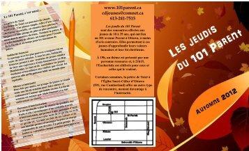 Programme 2012 automne