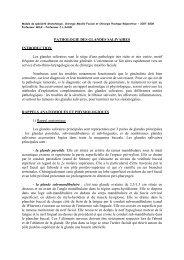 PATHOLOGIE DES GLANDES SALIVAIRES INTRODUCTION Les ...