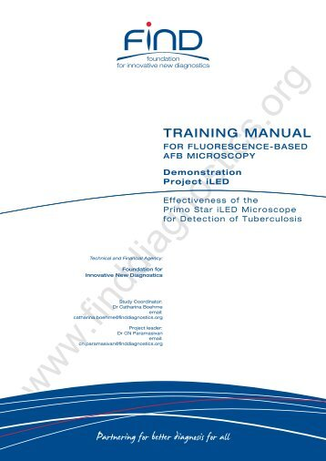 Training Manual - Foundation for Innovative New Diagnostics