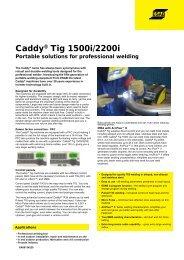 Caddy® Tig 1500i i/2200i