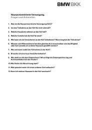 HzV_Haeufige Fragen.pdf - BMW BKK