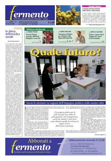 Numero 3 Marzo 2009 - Webdiocesi