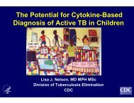 The Potential for Cytokine-Based Diagnosis of Active TB in Children