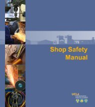 Shop Safety Manual - UCLA - Environment, Health & Safety