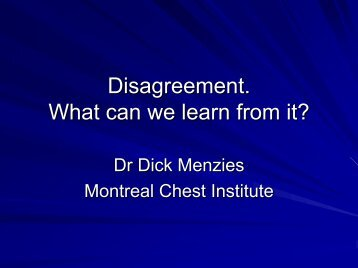 Disagreement: What can we learn from it?