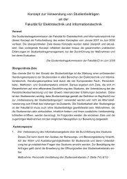Konzept zur Verwendung von Studienbeiträgen im Studienjahr 2008 ...