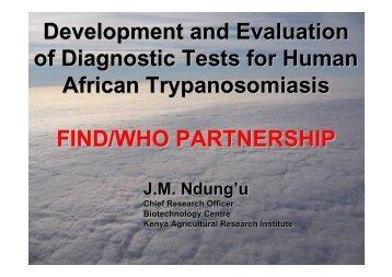 Development and Evaluation of Diagnostic Tests for Human African ...