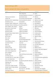 Neueinstellungen 2009 - Bücher und Spiele für Jugendliche