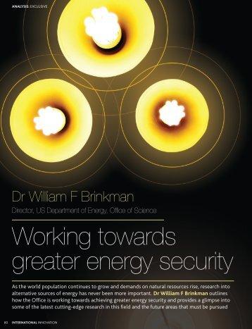 Working towards greater energy security - U.S. Department of Energy