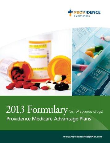 Providence Medicare Advantage Plans 2013 Formulary (List of