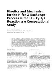 Kinetics and Mechanism for the H-for-X Exchange ... - Chemistry
