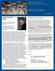 The Lab Report Spring 2012 - Chemistry - Emory University