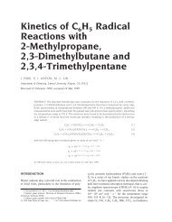 Kinetics of C6 H5 Radical Reactions with 2 ... - Chemistry