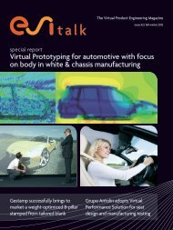 Virtual Prototyping for automotive with focus on body in ... - ESI Group