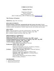 Short Version - Chemistry - Emory University