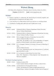 Weiwei Zheng - Chemistry - Emory University