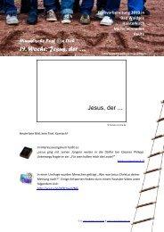 19. Woche: Jesus, der … - Jugendseelsorge Waldsee