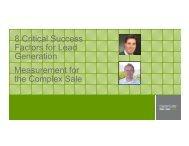 8 Critical Success Factors for Lead Generation Measurement for the ...