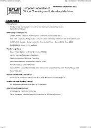 EFLM Newsletter September 2012.pdf - European Federation of ...