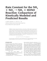 Rate Constant for the NH + NO - Chemistry - Emory University