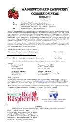 Spring 2013 - Washington Red Raspberry Commission