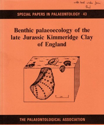 Benthic palaeoecology of the late Jurassic Kimmeridge Clay - Index of