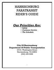 Rider's Guide - City of Harrisonburg