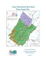 Upper Shenandoah River Basin Water Supply Plan - City of ...