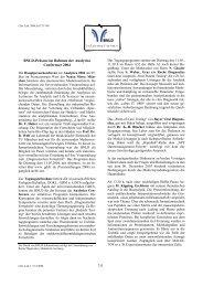 Berichte Analytika und Jahrestagung 2004 - BNLD