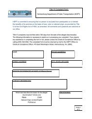 Title VI Complaint Form - City of Harrisonburg