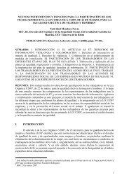 Nuevos instrumentos y espacios para la participación de los ...