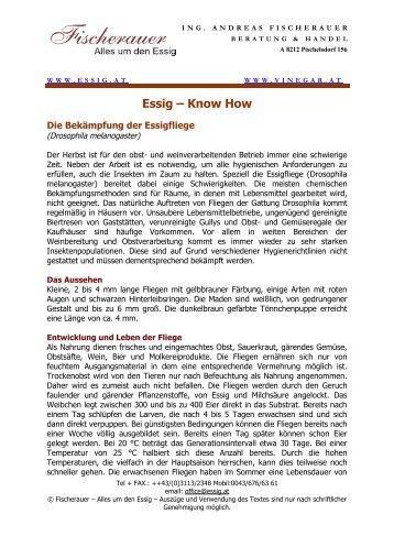 Essig – Know How - Alles um den Essig