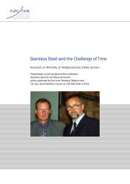 PDF: Stainless Steel and the Challenge of Time - Euro Inox