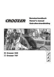 Croozer 535 Croozer 737 Benutzerhandbuch ... - Bring-a-Baby